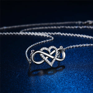 Infinity Crystal Heart Necklace - 2 Colors!