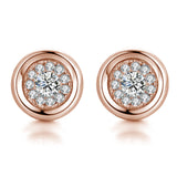 Round Stud Earrings Super Shine -2 Colours!
