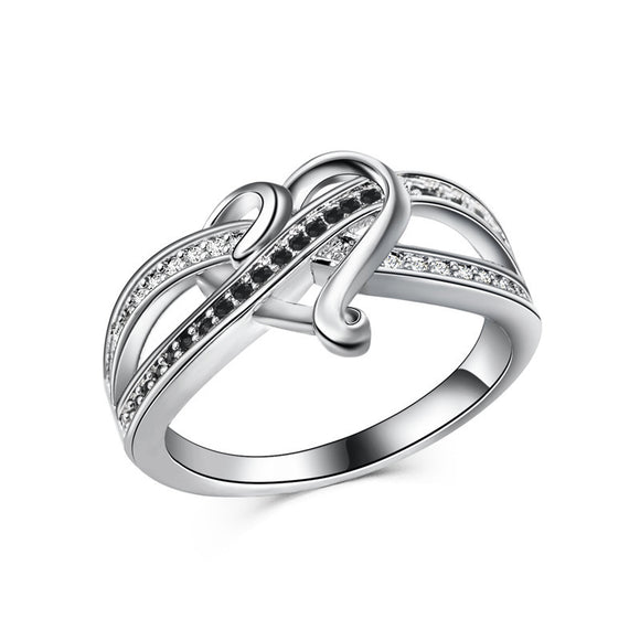 Simple Love Heart Design 925 Silver Plating Ring