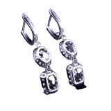 European Stylish 925 Silver Plated Long Drop Earrings