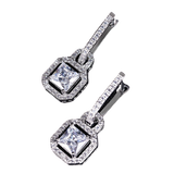 Lock Design Silver Earrings