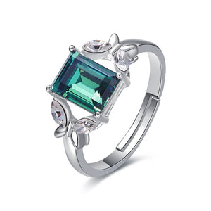 Cubic Stone Gemstone Crystal Womens Ring