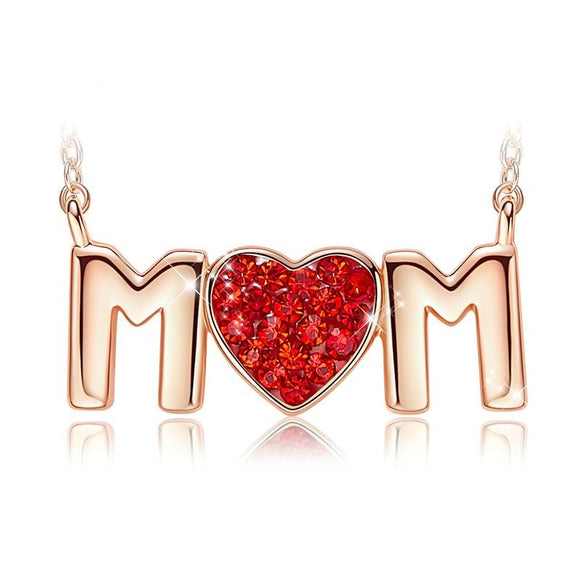 Imitation Mom Pendant Necklace