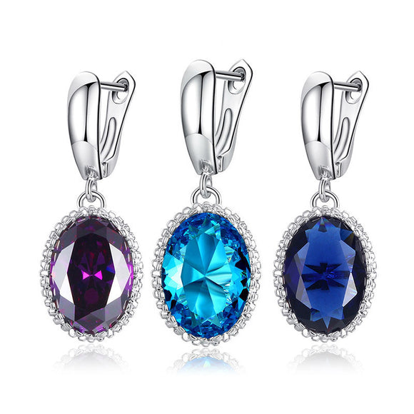 Luxury Ladies Big Crystal Drop Earrings