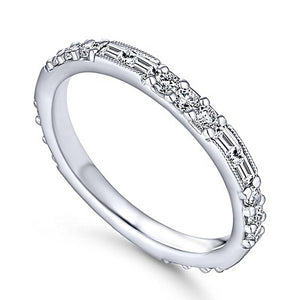ROUND AND BAGUETTE CUT CRYSTAL ETERNITY RING