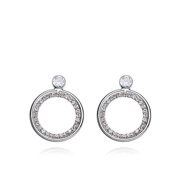 Big Circle Alloy Abstract Earrings