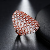 MY ETERNAL LOVE RING CRYSTAL PAVE' SILVER 925