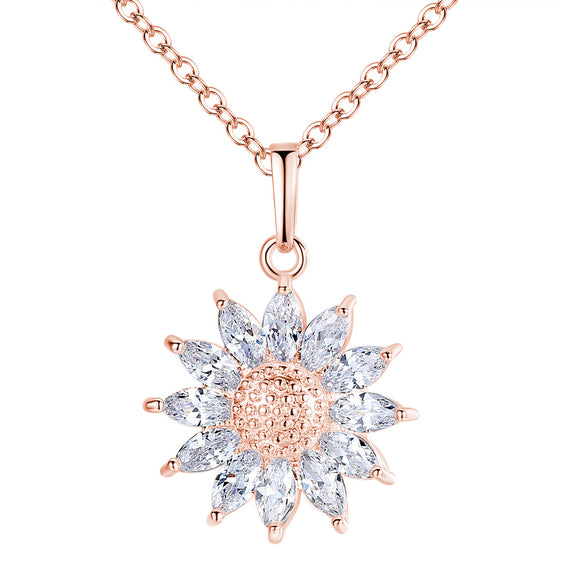 Sunshine White Crystal Necklace - 2 Colours!