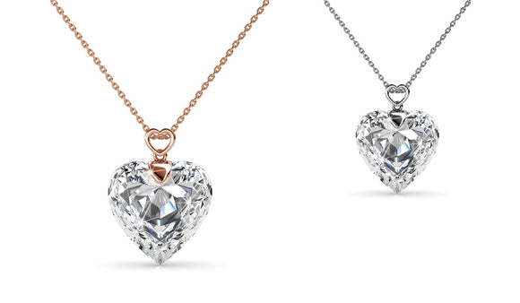 Lovely  Necklace Heart Crystal from Swarovski – 2 Colours!