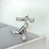 Brilliant Trilogy Stud Earrings 925 Sterling Silver