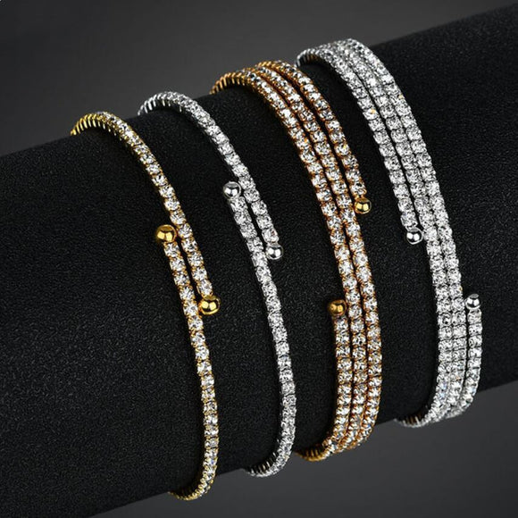 Luxury Micro Pave Open Bangle - 2 Colours & 2 Designs!