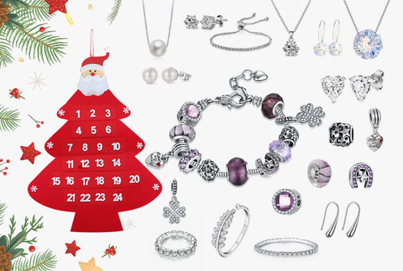 24-Day Jewellery Christmas Advent Calendar - 2 Design!