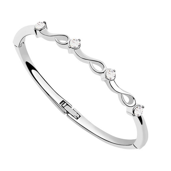 Four-Stone Crystal Elements Bangles