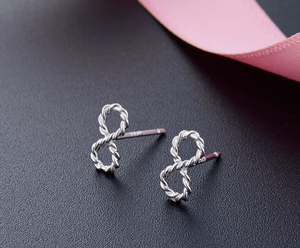 Sterling silver Infinity Earrings