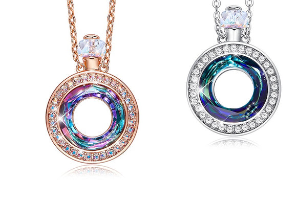 Luxury Perfume Necklace Crystals From Swarovski