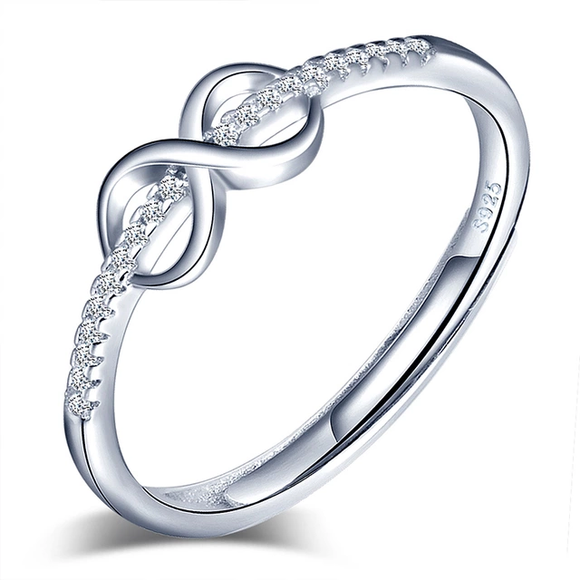 Elegant Infinity Crystals Adjustable Ring!