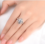 SPARKLING LOVE KNOT RING –Adjustable!