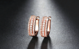Micro Pave' Hoop Earrings – 3 Colours!