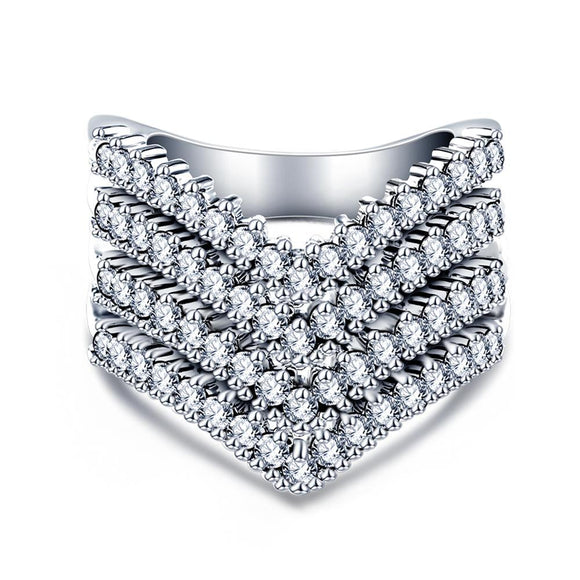 Pave Round Cut Cubic Zirconia Ring