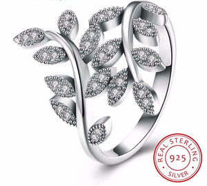 925 Sterling Silver Ring Leaves