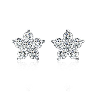 Star Stud Earrings Cubic Zirconia