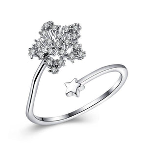 Open Star Ring Cubic Zirconia
