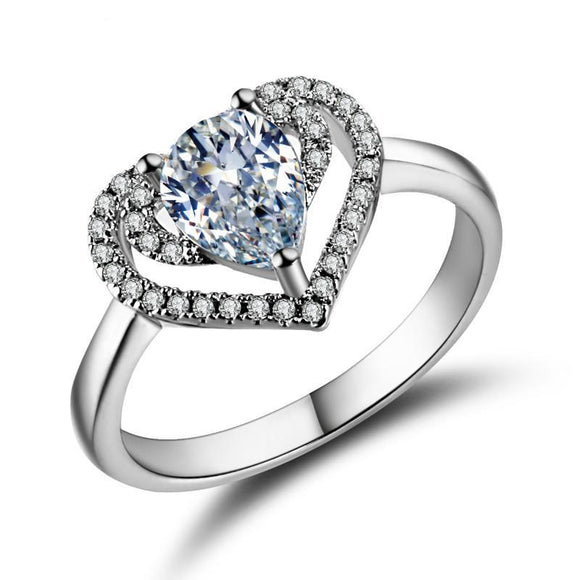 Heart Ring Cubic  Zircon