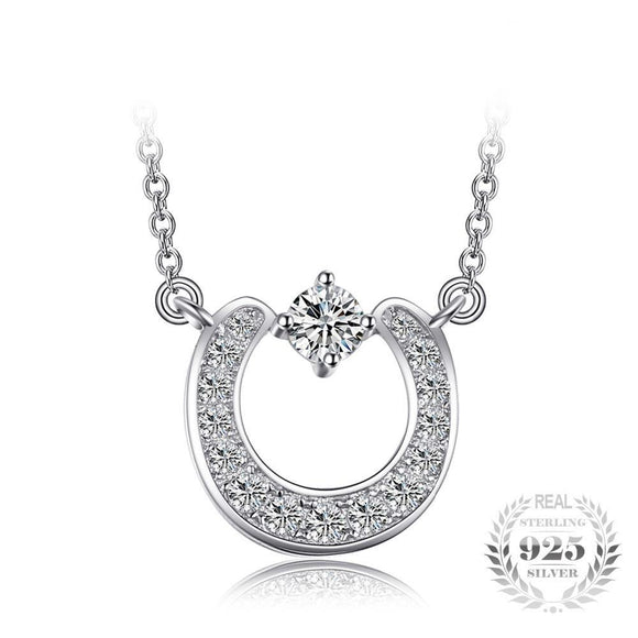 Fashion Cubic Zirconia Necklace 925 Sterling Silver