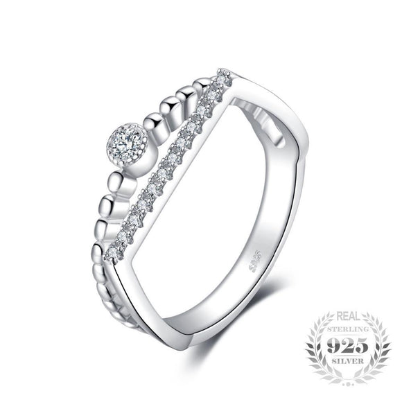 Round Ring Set 925 Sterling Silver