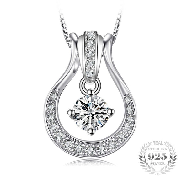 Multi-Charm Cubic Zirconia Necklace 925 Sterling Silver