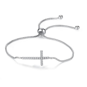 Crystal Cross Bracelet Cubic Zirconia