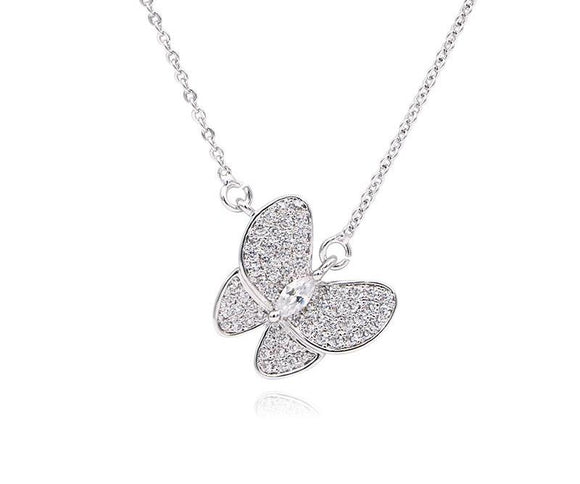 Butterfly  Necklace Cubic Zirconia