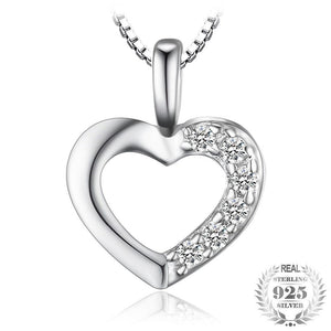 Love Heart  Necklace  925 Silver