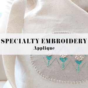 SPECIALTY EMBROIDERY : THE APPLIQUE
