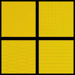 HYDRO-TURF 40X62 SHEET - MATERIAL CUT GROOVE - YELLOW