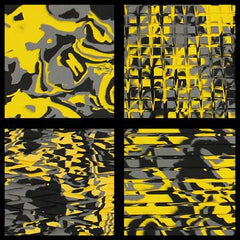 HYDRO-TURF 40X62 SHEET - MATERIAL CUT GROOVE - YELLOW CAMO