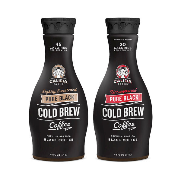 Pure Black Cold Brew Coffee Lightly Sweetened & Unsweetened