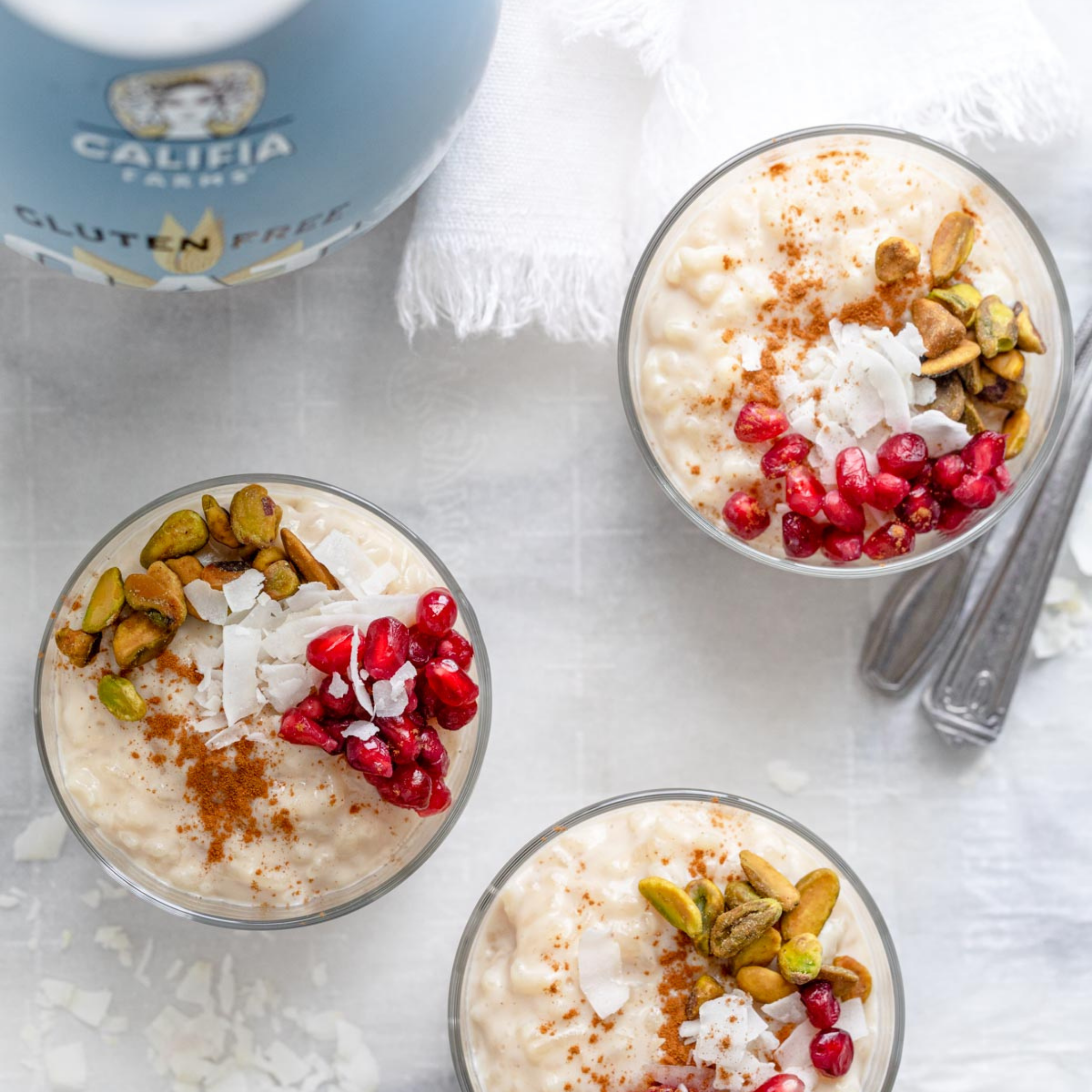 Image for Pomegranate & Pistachio Rice Pudding