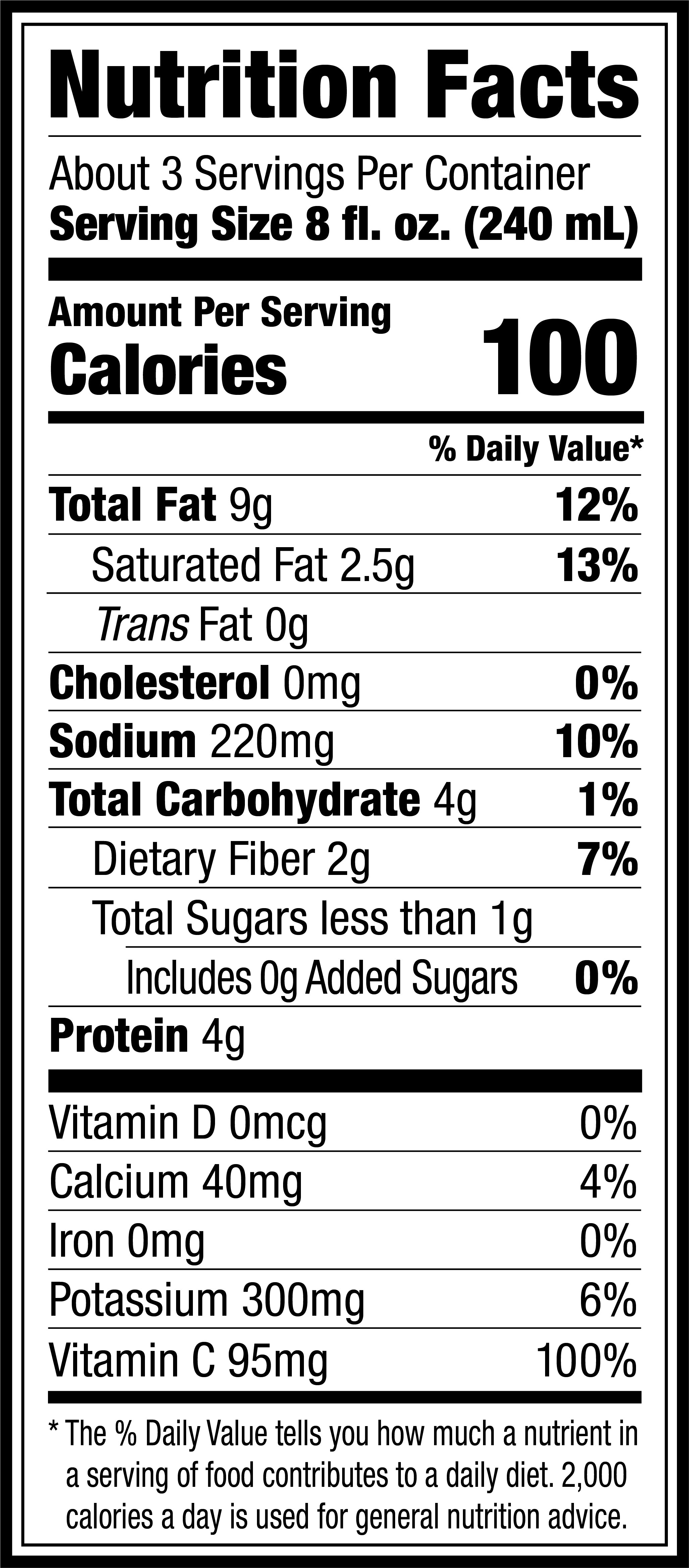 Unsweetened Probiotic Dairy-Free Yogurt Califia Farms Nutrition Facts