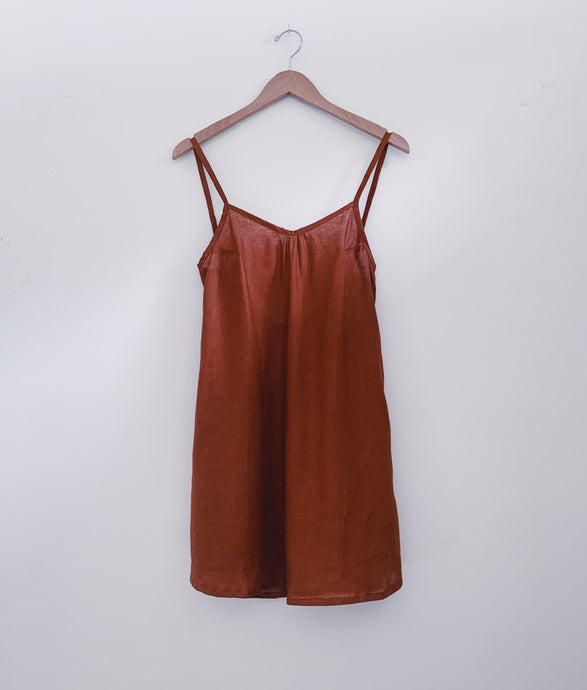 KAIONE SHORT DRESS - Canyon Linen