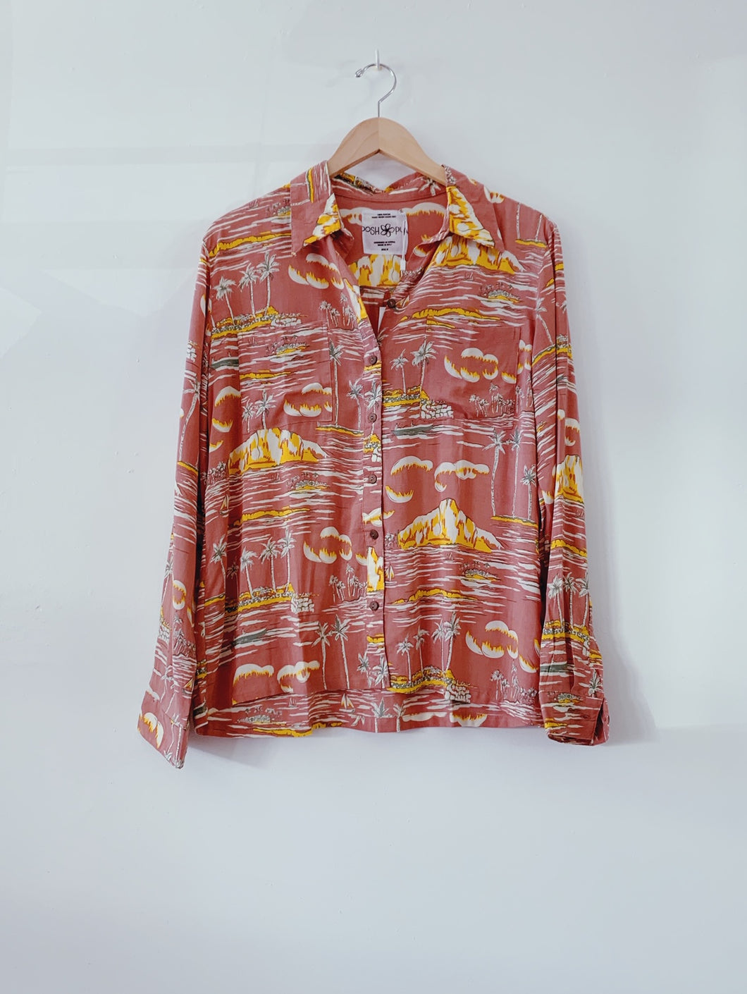 LONG SLEEVE ALOHA SHIRT - Waikiki Rose