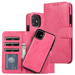 2 in 1 Detachable Wallet Case (6 colors)