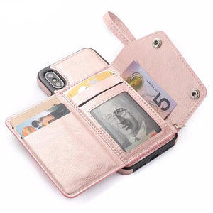2 in 1 Deluxe Wallet Case (5 colors)