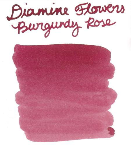 Diamine Flower Burgundy Rose