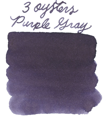 3 Oysters Purple Gray