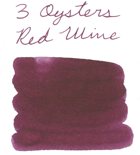 3 Oysters Red Wine