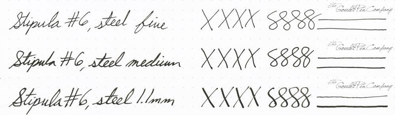 Stipula #6 Steel Nib writing samples