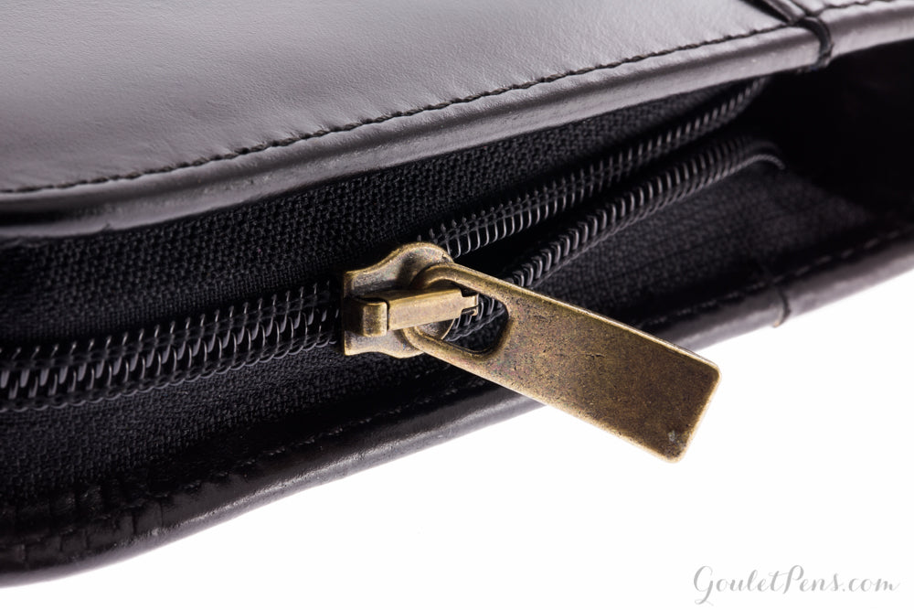 Aston Leather 20 Slot Pen Case - Black