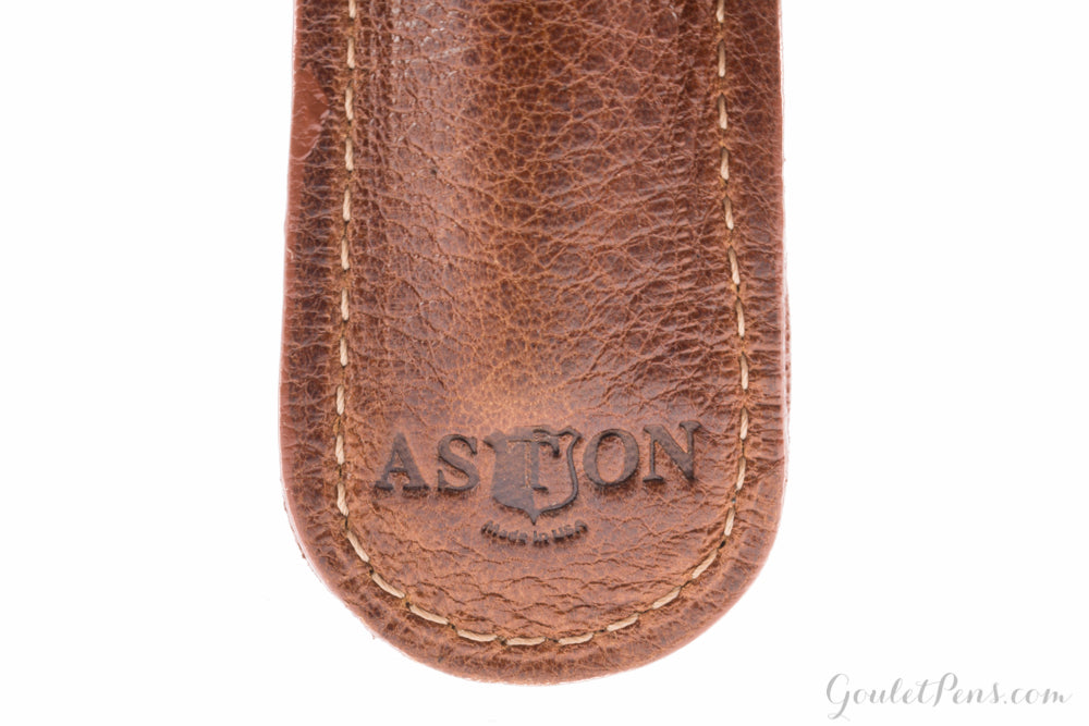 Aston Leather Single Slip Pen Pouch - Tan