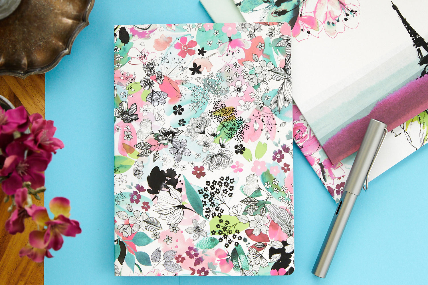 Clairefontaine Blooming Staplebound A5 Notebook - Lined